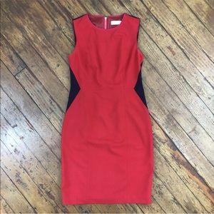 Calvin Klein Color Block Dress Sleeveless Sheath
